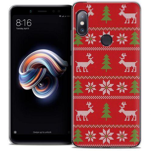 "Carcasa Crystal Gel Extra Fina Xiaomi Redmi Note 5 (5.99"") Noël 2017 Couture Rouge"