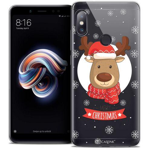 """Carcasa Crystal Gel Extra Fina Xiaomi Redmi Note 5 (5.99"""") Noël 2017 Cerf à Echarpe"""