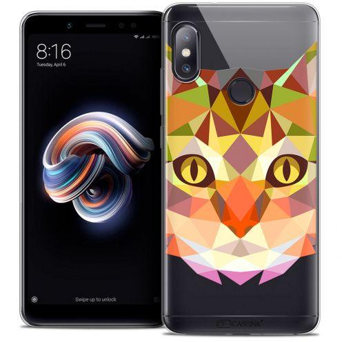 "Carcasa Crystal Gel Extra Fina Xiaomi Redmi Note 5 (5.99"") Polygon Animals Gato"