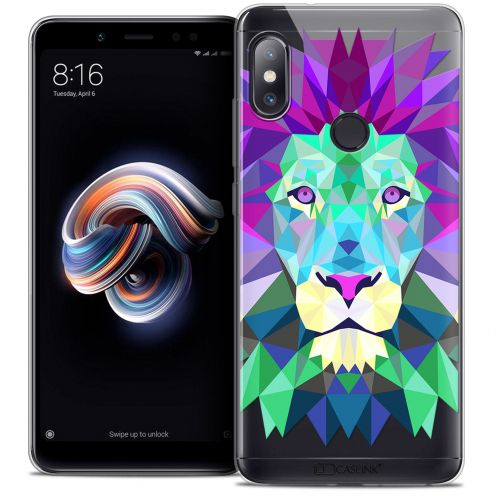 "Carcasa Crystal Gel Extra Fina Xiaomi Redmi Note 5 (5.99"") Polygon Animals León"