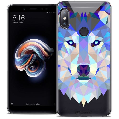 "Carcasa Crystal Gel Extra Fina Xiaomi Redmi Note 5 (5.99"") Polygon Animals Lobo"
