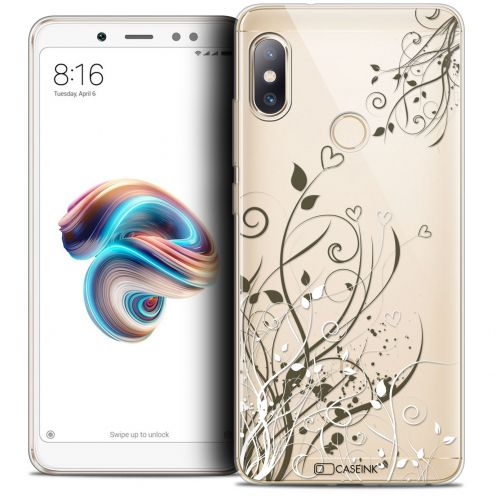 "Carcasa Crystal Gel Extra Fina Xiaomi Redmi Note 5 (5.99"") Love Hearts Flowers"