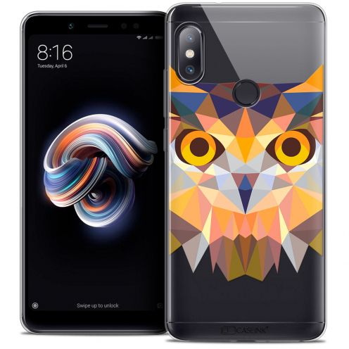 "Carcasa Crystal Gel Extra Fina Xiaomi Redmi Note 5 (5.99"") Polygon Animals Búho"
