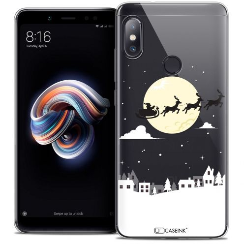 "Carcasa Crystal Gel Extra Fina Xiaomi Redmi Note 5 (5.99"") Noël 2017 Flying Stanta"