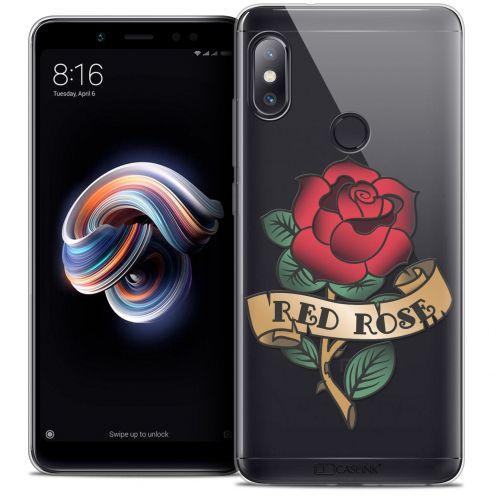 "Carcasa Crystal Gel Extra Fina Xiaomi Redmi Note 5 (5.99"") Tatoo Lover Red Rose"