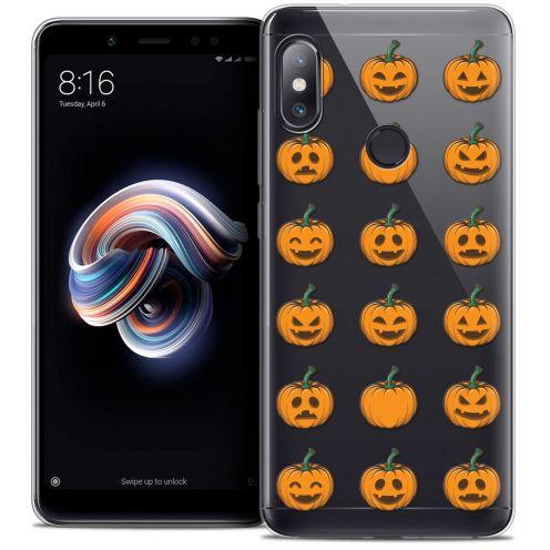 "Carcasa Crystal Gel Extra Fina Xiaomi Redmi Note 5 (5.99"") Halloween Smiley Citrouille"