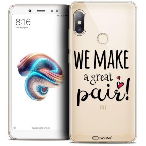 "Carcasa Crystal Gel Extra Fina Xiaomi Redmi Note 5 (5.99"") Love We Make Great Pair"