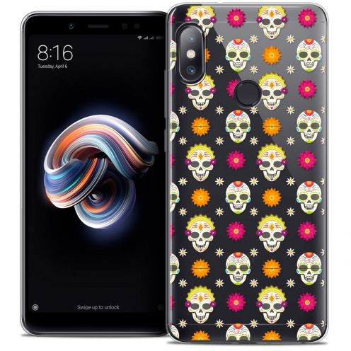 "Carcasa Crystal Gel Extra Fina Xiaomi Redmi Note 5 (5.99"") Halloween Skull Halloween"