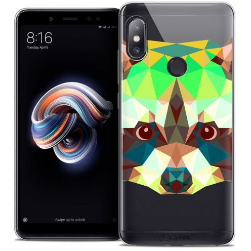 "Carcasa Crystal Gel Extra Fina Xiaomi Redmi Note 5 (5.99"") Polygon Animals Raton Laveur"