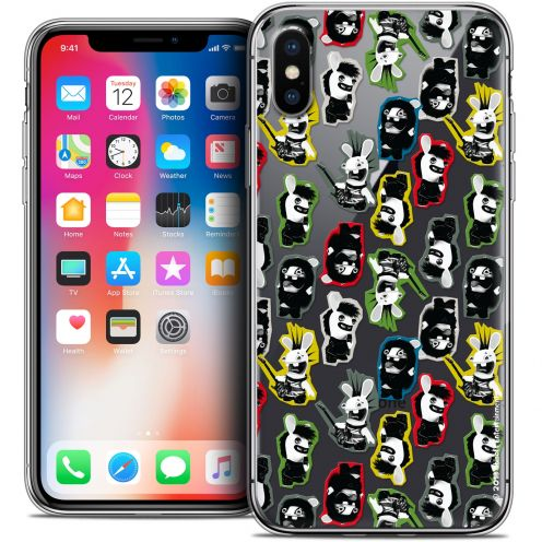 Carcasa Crystal Gel Apple iPhone X (10) Lapins Crétins™ Punk Pattern