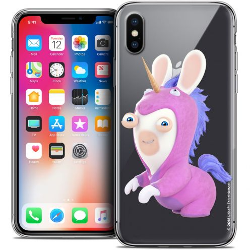 Carcasa Crystal Gel Apple iPhone X (10) Lapins Crétins™ Licorne