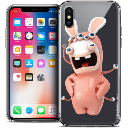 Carcasa Crystal Gel Apple iPhone X (10) Lapins Crétins™ Extraterrestre