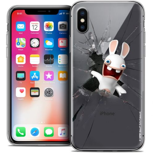 Carcasa Crystal Gel Apple iPhone X (10) Lapins Crétins™ Breaking Glass