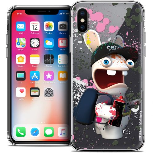 Carcasa Crystal Gel Apple iPhone X (10) Lapins Crétins™ Painter