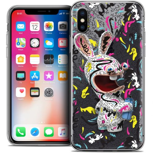 Carcasa Crystal Gel Apple iPhone X (10) Lapins Crétins™ Tag