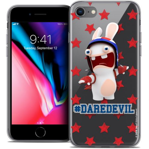 "Carcasa Crystal Gel Apple iPhone 8 (4.7"") Lapins Crétins™ Dare Devil"
