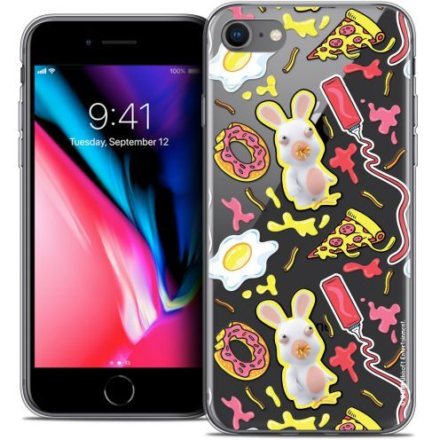 "Carcasa Crystal Gel Apple iPhone 7 (4.7"") Lapins Crétins™ Egg Pattern"