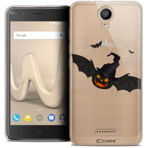 "Carcasa Crystal Gel Extra Fina Wiko Harry (5"") Halloween Chauve Citrouille"