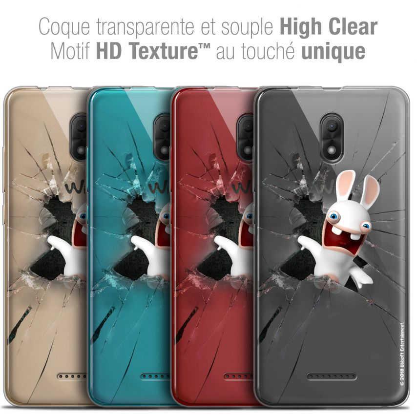 """Carcasa Crystal Gel Wiko Jerry 3 (5.45"""") Lapins Crétins™ Breaking Glass"""