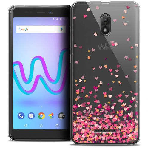 "Carcasa Crystal Gel Extra Fina Wiko Jerry 3 (5.45"") Sweetie Heart Flakes"