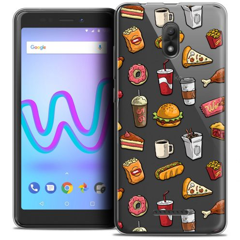 "Carcasa Crystal Gel Extra Fina Wiko Jerry 3 (5.45"") Foodie Fast Food"