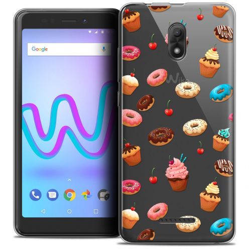 """Carcasa Crystal Gel Extra Fina Wiko Jerry 3 (5.45"""") Foodie Donuts"""
