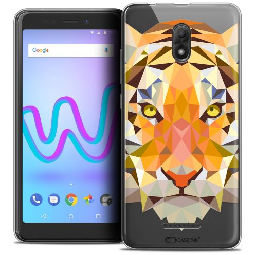 "Carcasa Crystal Gel Extra Fina Wiko Jerry 3 (5.45"") Polygon Animals Tigre"
