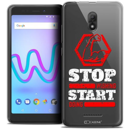 """Carcasa Crystal Gel Extra Fina Wiko Jerry 3 (5.45"""") Quote Start Doing"""