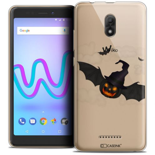 """Carcasa Crystal Gel Extra Fina Wiko Jerry 3 (5.45"""") Halloween Chauve Citrouille"""