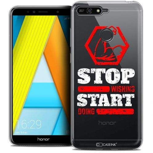 """Carcasa Crystal Gel Extra Fina Honor 7A (5.7"""") Quote Start Doing"""
