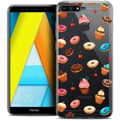 """Carcasa Crystal Gel Extra Fina Honor 7A (5.7"""") Foodie Donuts"""