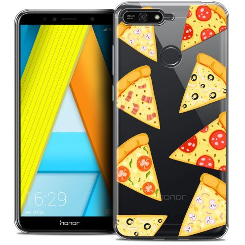 """Carcasa Crystal Gel Extra Fina Honor 7A (5.7"""") Foodie Pizza"""
