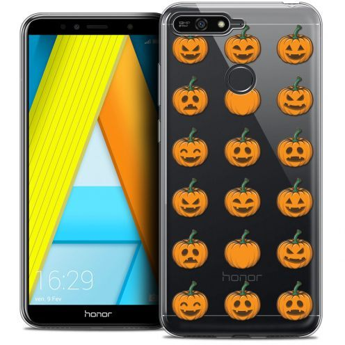"Carcasa Crystal Gel Extra Fina Honor 7A (5.7"") Halloween Smiley Citrouille"