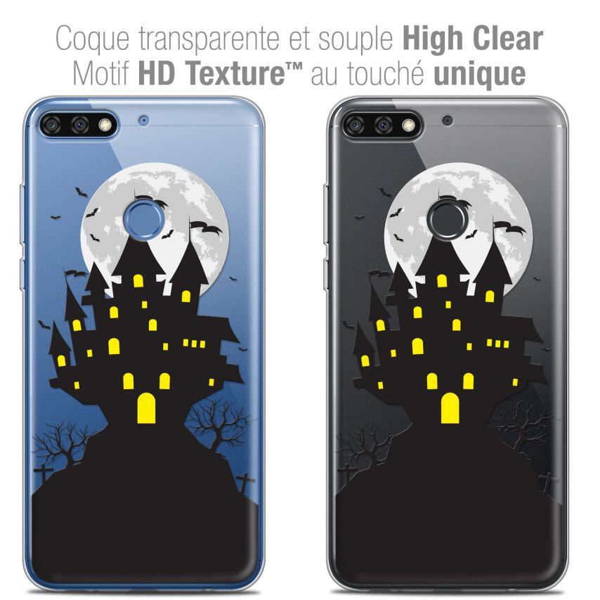 "Carcasa Crystal Gel Extra Fina Honor 7C (5.99"") Halloween Castle Scream"