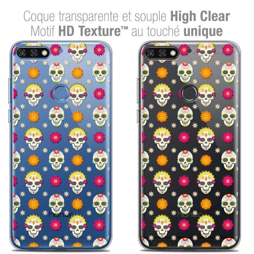 """Carcasa Crystal Gel Extra Fina Honor 7C (5.99"""") Halloween Skull Halloween"""