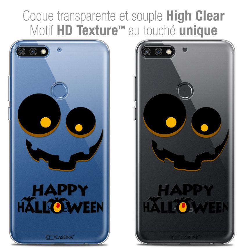 "Carcasa Crystal Gel Extra Fina Honor 7C (5.99"") Halloween Happy"