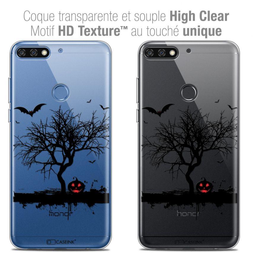 "Carcasa Crystal Gel Extra Fina Honor 7C (5.99"") Halloween Devil's Tree"