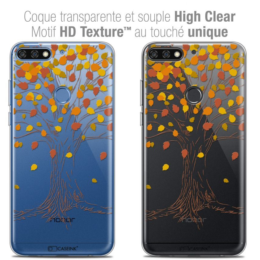 "Carcasa Crystal Gel Extra Fina Honor 7C (5.99"") Autumn 16 Tree"