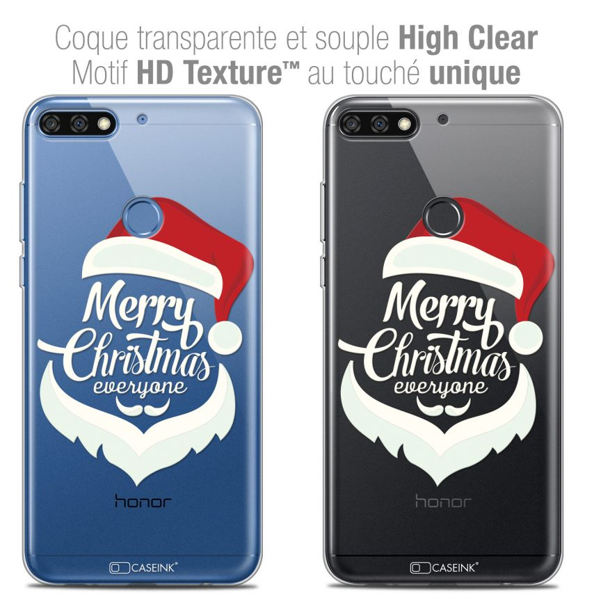 "Carcasa Crystal Gel Extra Fina Honor 7C (5.99"") Noël 2017 Merry Everyone"