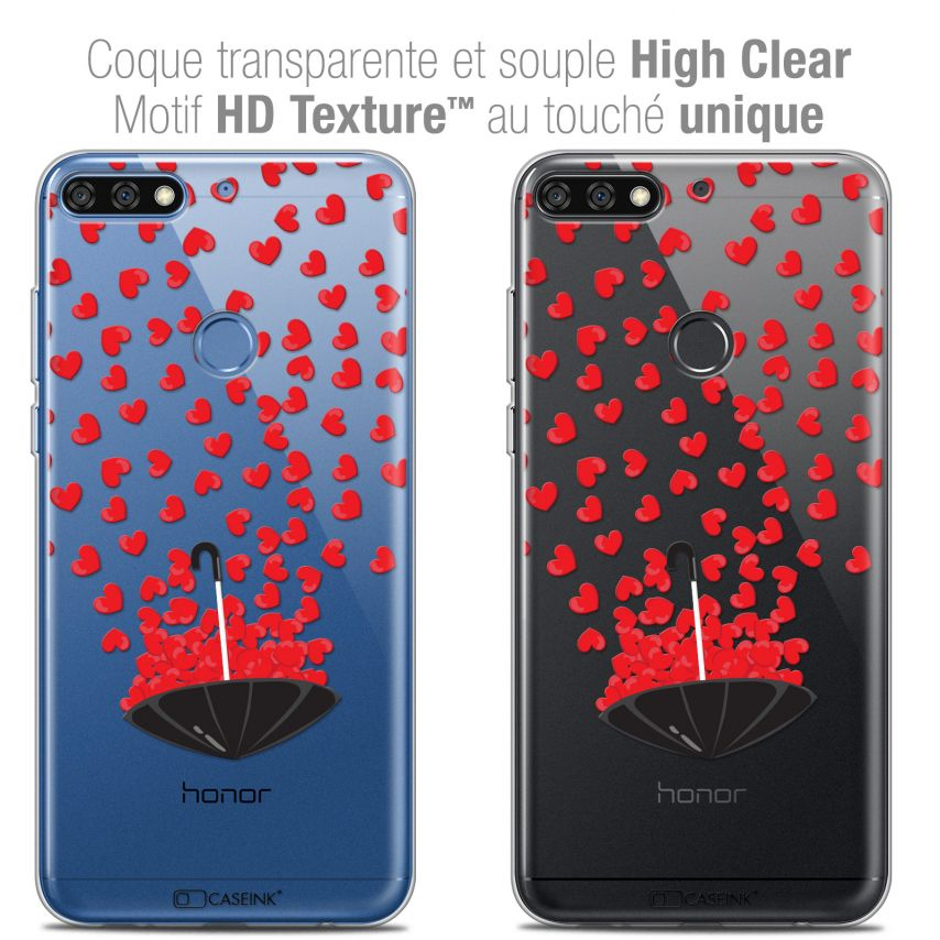 "Carcasa Crystal Gel Extra Fina Honor 7C (5.99"") Love Parapluie d'Amour"