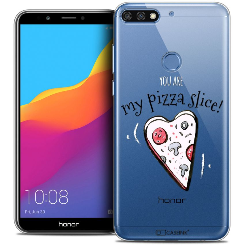 "Carcasa Crystal Gel Extra Fina Honor 7C (5.99"") Love My Pizza Slice"