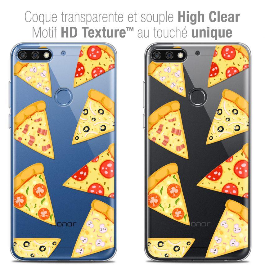 "Carcasa Crystal Gel Extra Fina Honor 7C (5.99"") Foodie Pizza"