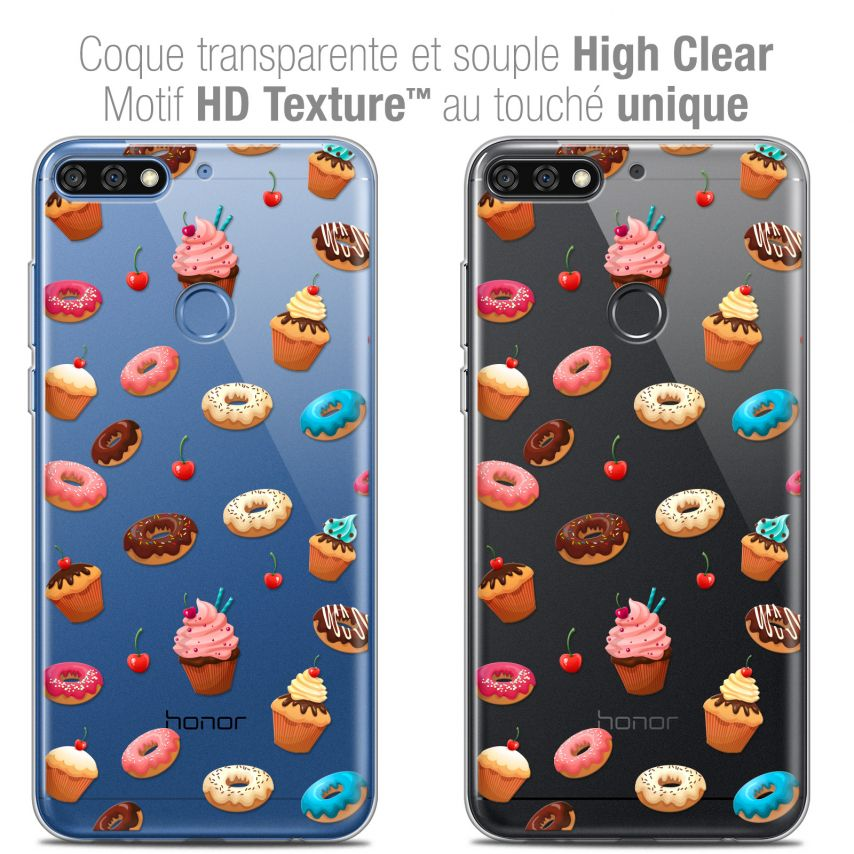 "Carcasa Crystal Gel Extra Fina Honor 7C (5.99"") Foodie Donuts"