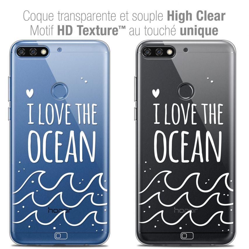 "Carcasa Crystal Gel Extra Fina Honor 7C (5.99"") Summer I Love Ocean"