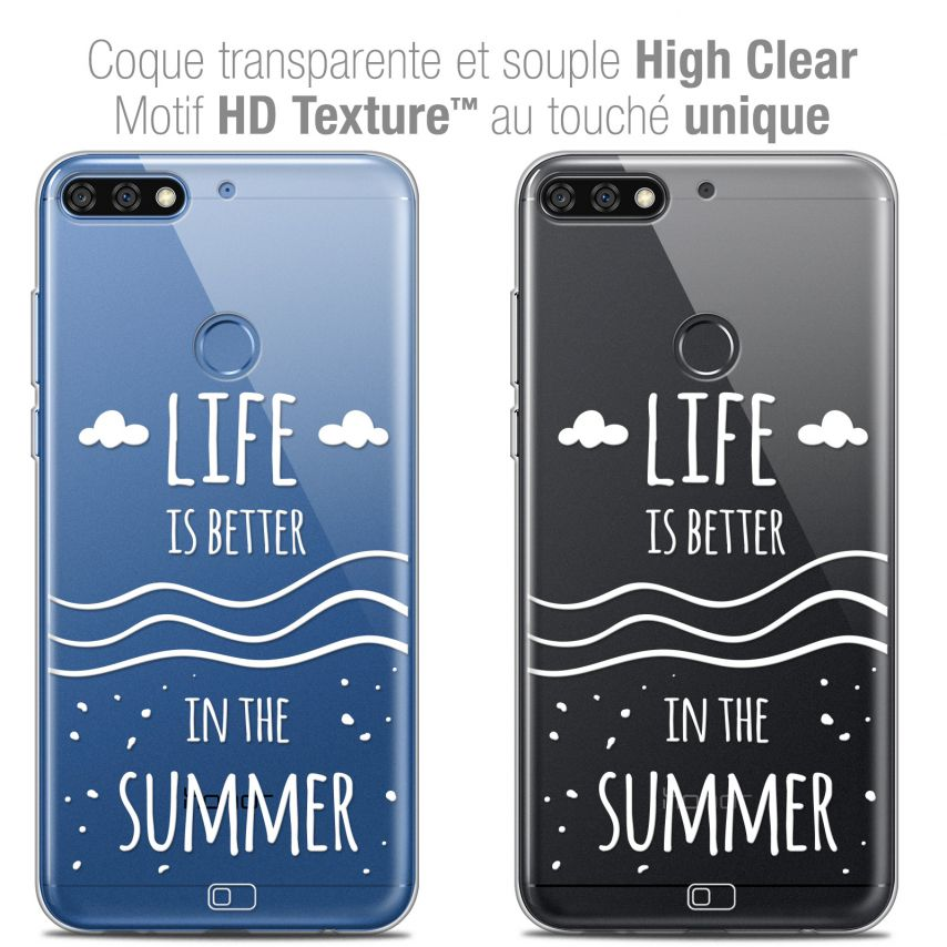 "Carcasa Crystal Gel Extra Fina Honor 7C (5.99"") Summer Life's Better"