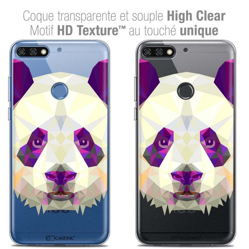 "Carcasa Crystal Gel Extra Fina Honor 7C (5.99"") Polygon Animals Panda"