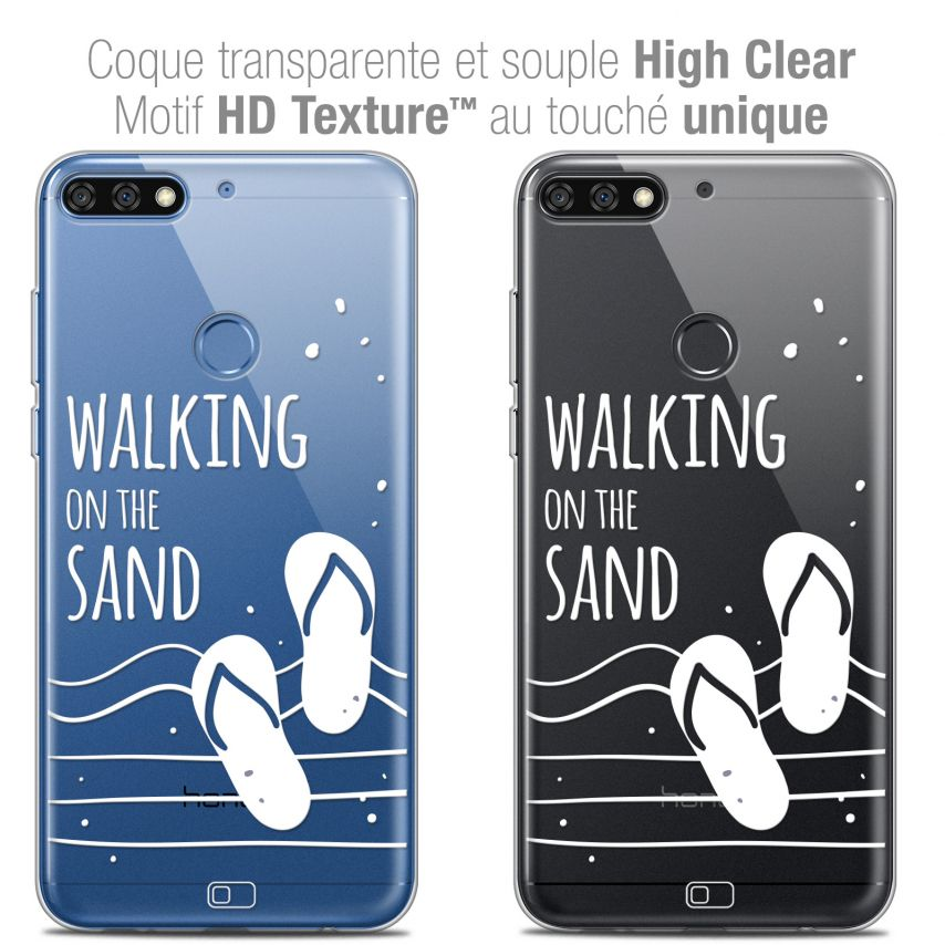 "Carcasa Crystal Gel Extra Fina Honor 7C (5.99"") Summer Walking on the Sand"