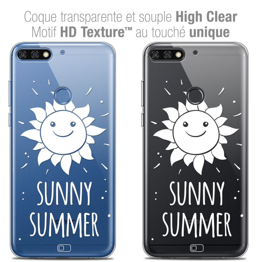 "Carcasa Crystal Gel Extra Fina Honor 7C (5.99"") Summer Sunny Summer"