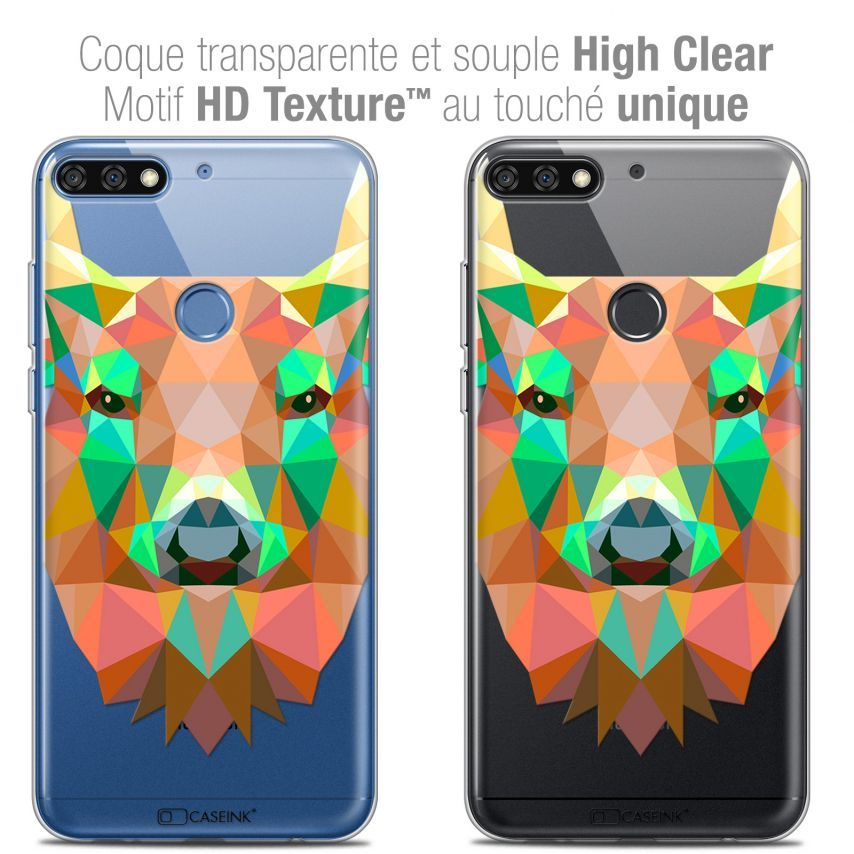 "Carcasa Crystal Gel Extra Fina Honor 7C (5.99"") Polygon Animals Ciervo"