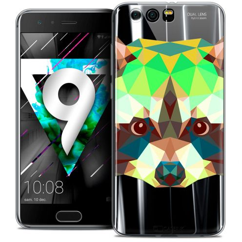 "Carcasa Crystal Gel Extra Fina Huawei Honor 9 (5.15"") Polygon Animals Raton Laveur"